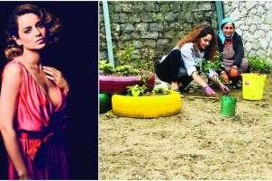 Kangana Ranaut celebrates her birthday by gardening around her bungalow in Manali