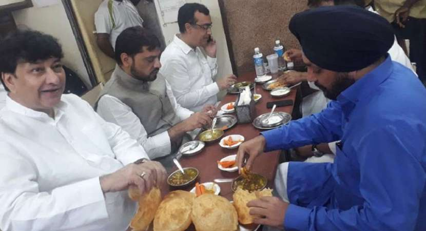 Image result for chole bhature congress