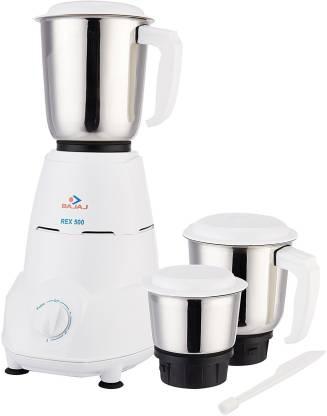 Bajaj REX 500W Mixer Grinder (White)