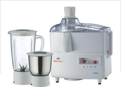Bajaj Amaze 450W Juicer Mixer Grinder (White)