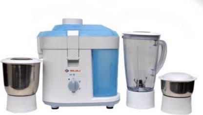 Bajaj JX 10 450W Juicer Mixer Grinder (Blue And White)