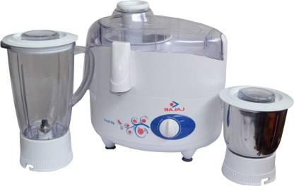 Bajaj Majesty Fresh Sip 450W Juicer Mixer Grinder (White)