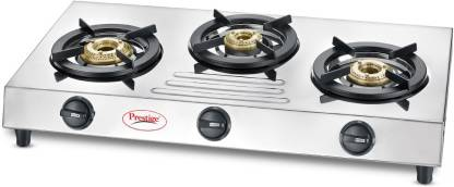 Prestige Fame Stainless Steel Manual Gas Stove (Silver)