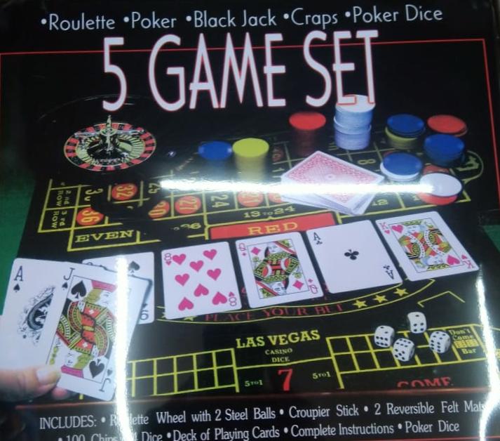 5 Game set-Roulett,Poker,Black jack,Craps,poker Dice