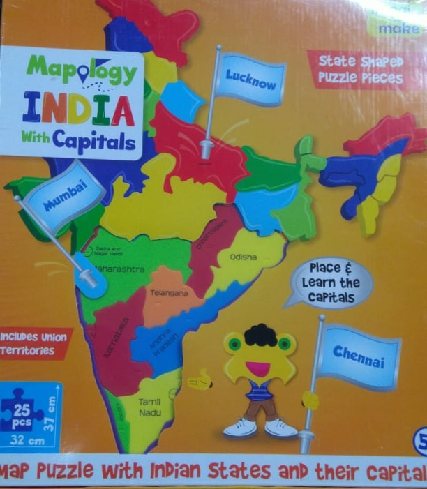 Mapology India with Capital