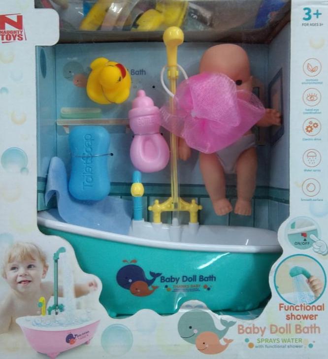 Functional Shawer baby doll bath