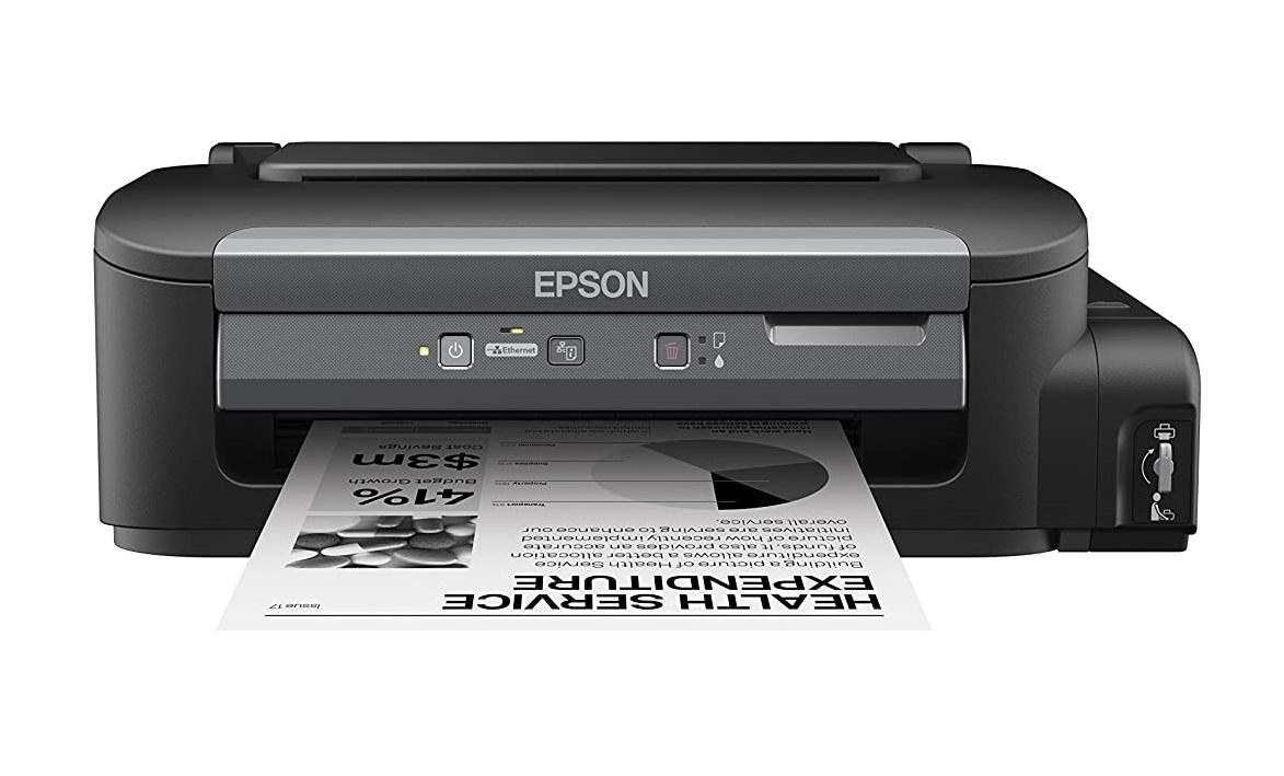 Epson M100 Single Function Inkjet Printer  (White, Ink Bottle)