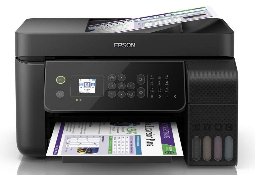 Epson EcoTank L5190 Wi-Fi Multifunction InkTank Printer with ADF Multi-function Color Printer  (Black, Refillable Ink Tank)