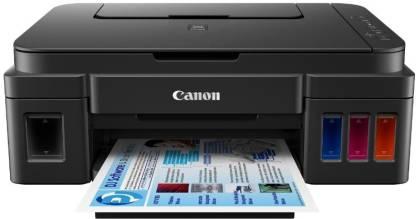 Canon Pixma Ink Efficient G2010 Multi-function Color Printer  (Black, Ink Bottle)