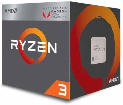 AMD Ryzen 3 3200G with Radeon Vega 8 Graphics (YD3200C5FHBOX) 3.6 Ghz Upto 4 GHz AM4 Socket 4 Cores 4 Threads 2 MB L2 4 MB L3 Desktop Processor (Silver)