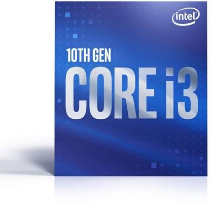 Intel Core i3-10100 3.6 GHz Upto 4.3 GHz LGA 1200 Socket 4 Cores 8 Threads 6 MB Smart Cache Desktop Processor (Silver)