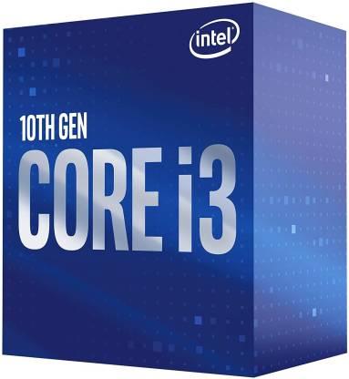 Intel i3-10100 Processor 3.6 GHz LGA 1200 Socket 4 Cores Desktop Processor (Blue)