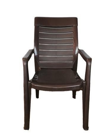 Nilkamal 2180 Plastic Outdoor Chair  (brown, Set of 2)