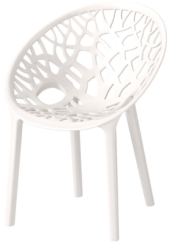 Nilkamal Plastic Outdoor Chair  (MILKEY WHITE)