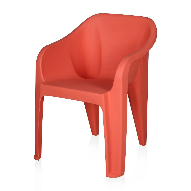 Nilkamal Nilkamal Chairs Eeezy, Peach Plastic Cafeteria Chair  (PEACH, Set of 4)