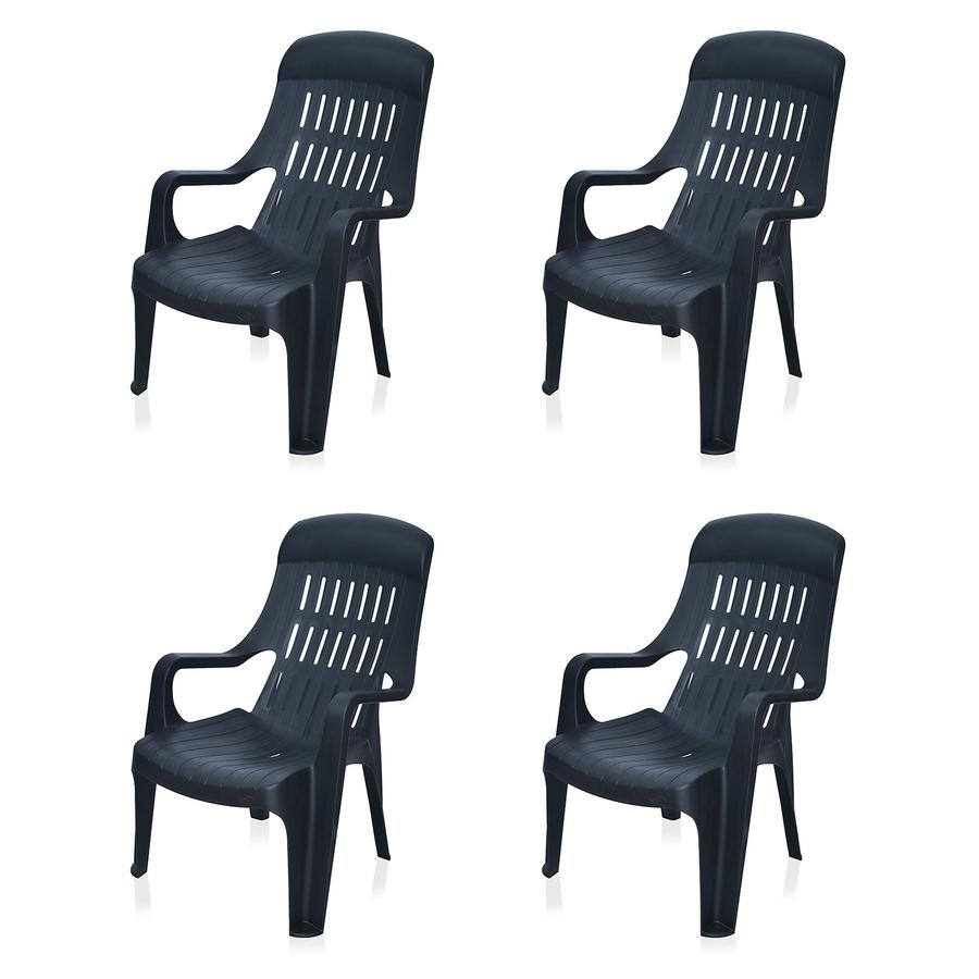 Nilkamal Weekender Plastic Outdoor Chair  (Blue)