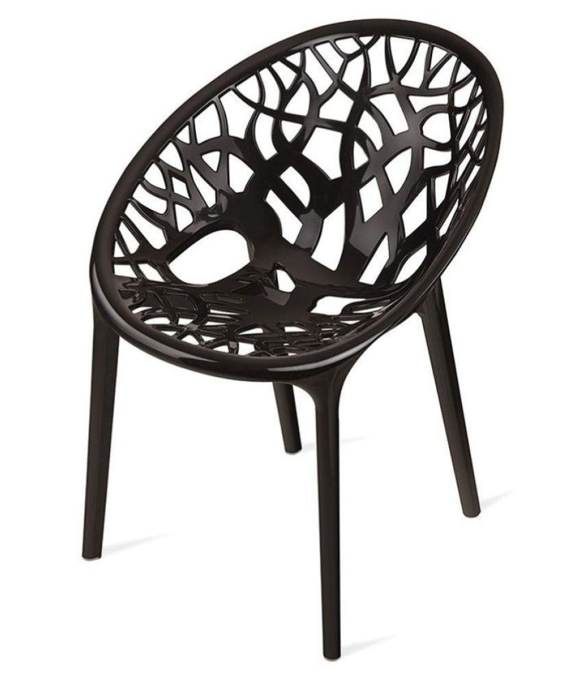 Nilkamal Plastic Outdoor Chair  (IRON BLACK)