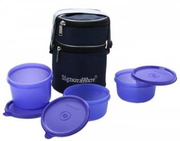 Signoraware Officer 3 Containers Lunch Box  (1100 ml)