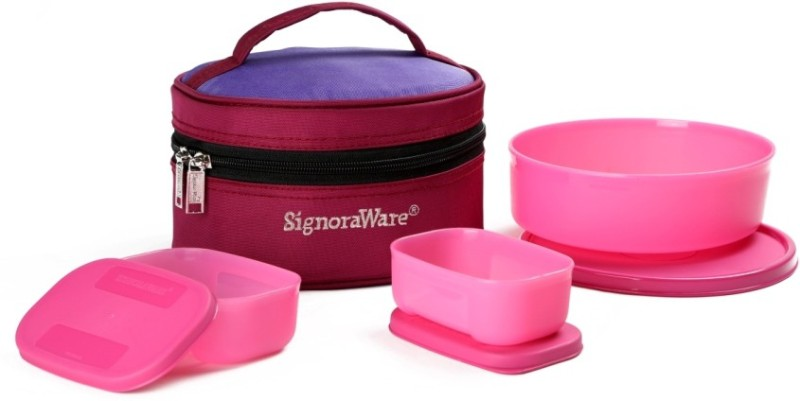 Signoraware Classic Lunch (Sappire) with Bag 3 Containers Lunch Box  (1100 ml)