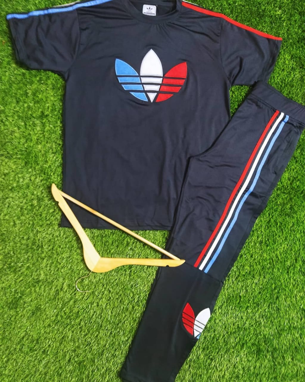 Adidas Rayon Track suit For Boys (Blue)