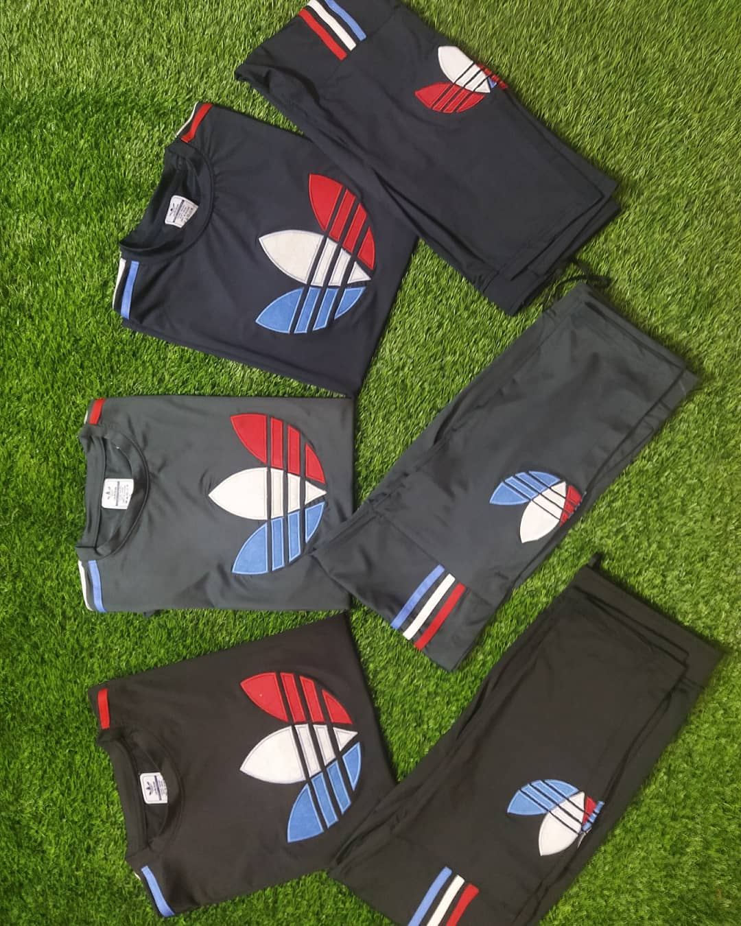 Adidas Rayon Track suit For Boys (Black)