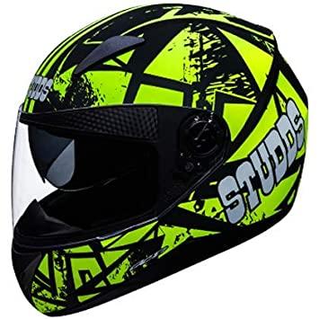 Studds Shifter D4 Decor D4 Matt Black -Green N5 Bike Helmet
