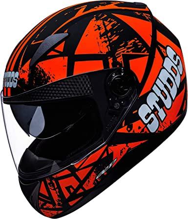 Studds Shifter D4 Decor D4 Matt Black -Orange N10 Bike Helmet