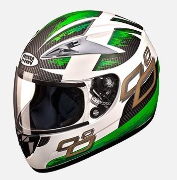 Studds Scorpion D4 Decor With Mirror Visor D4 White N3 Bike Helmet