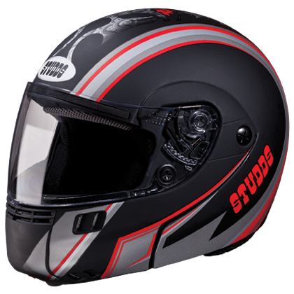 Studds NINJA 3G D4 DECOR D4 Matt Black N2 Bike Helmet