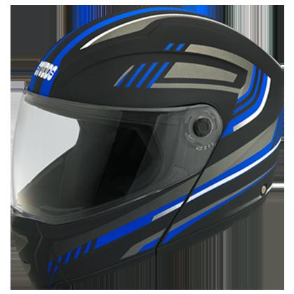 Studds Ninja Elite Super D1 Decor D1 Matt Black N1 Bike Helmet