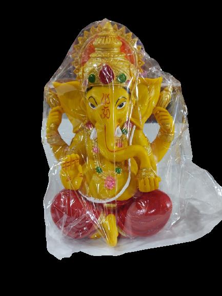 Small Attractive Ganesha Decorative Showpiece-Small- Mustard Yellow