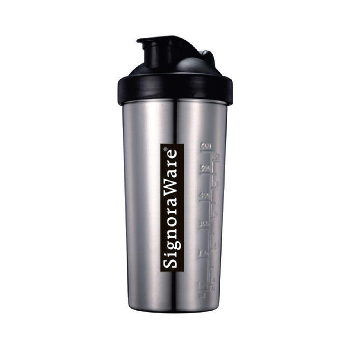 Signoraware Pro Shaker Stainless Steel Container (Silver)