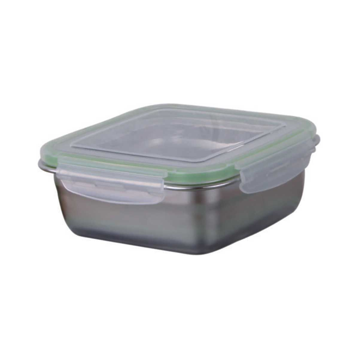 Signoraware 3723 Modular Square Steel Container With Lid (750 ml)