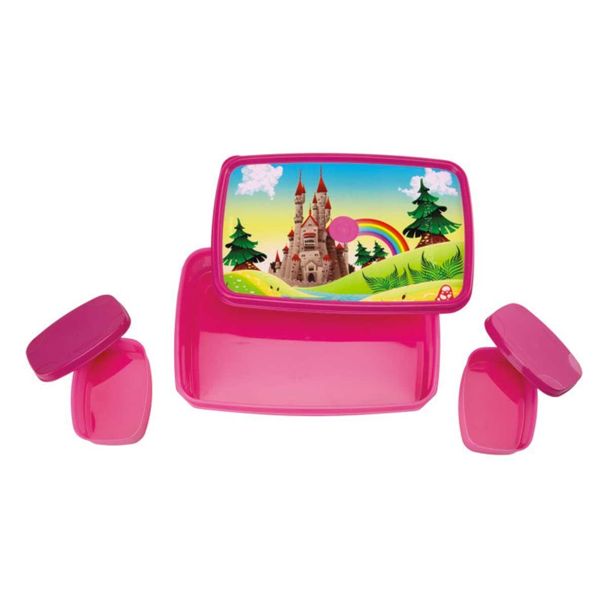 Signoraware P36514 Castle-Compact Lunch Box (Big) (850ml+100ml+100ml)