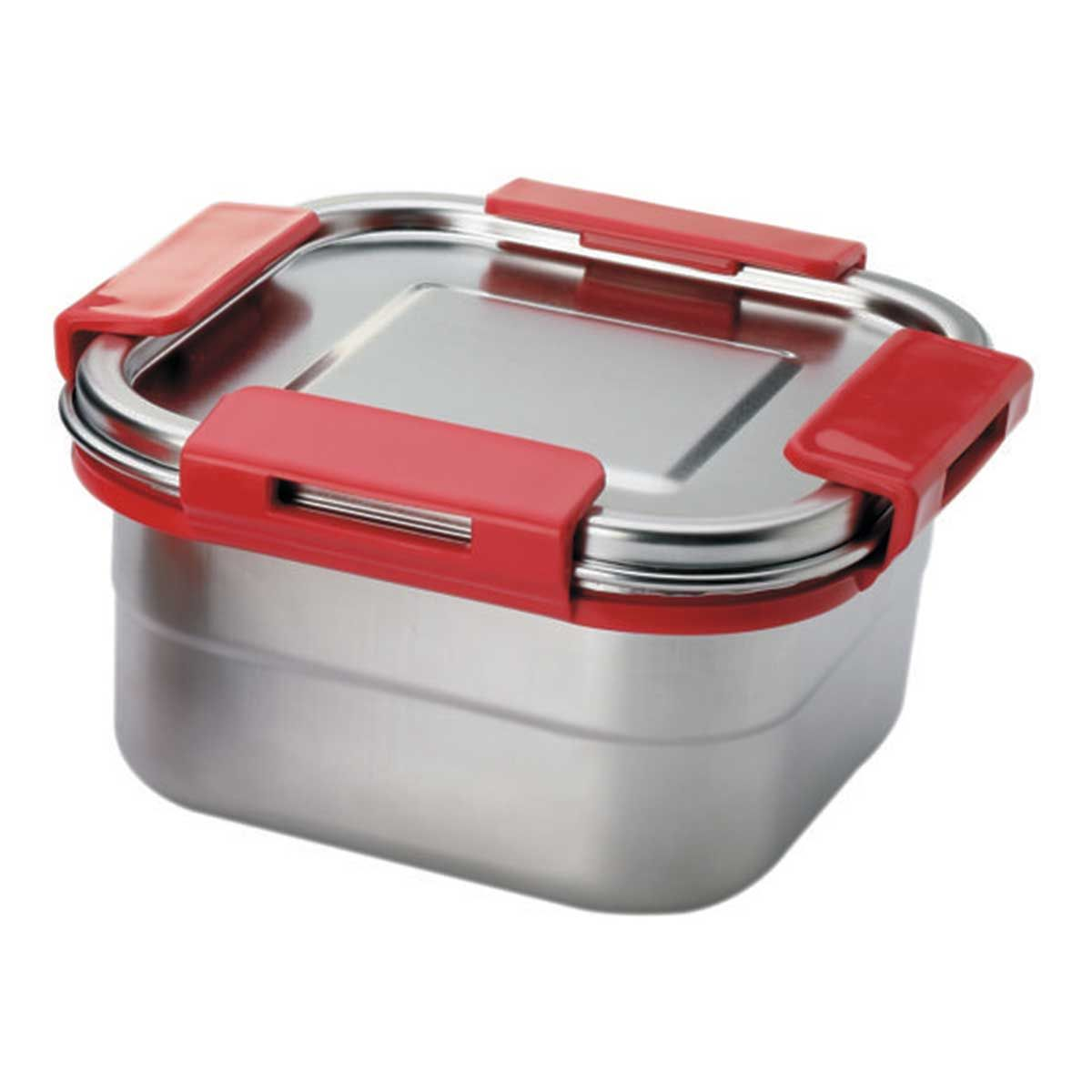 Signoraware Squarex Steel Box with Steel Lid