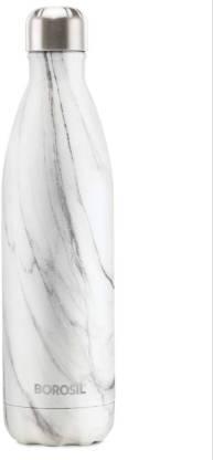 BOROSIL Stainless Steel Hydra Bolt Marble Bottle (White, Steel)