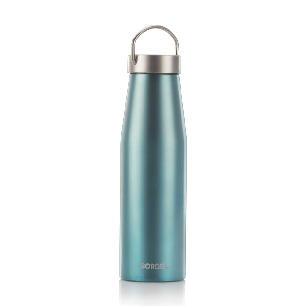 Borosil Stainless Steel Vivo-Vacuum Insulated Flask Water Bottle olive