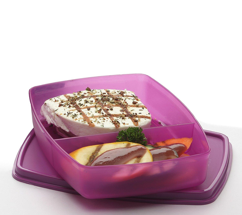 Signoraware 526 Slim Small Lunch Box (340ml, Pink)