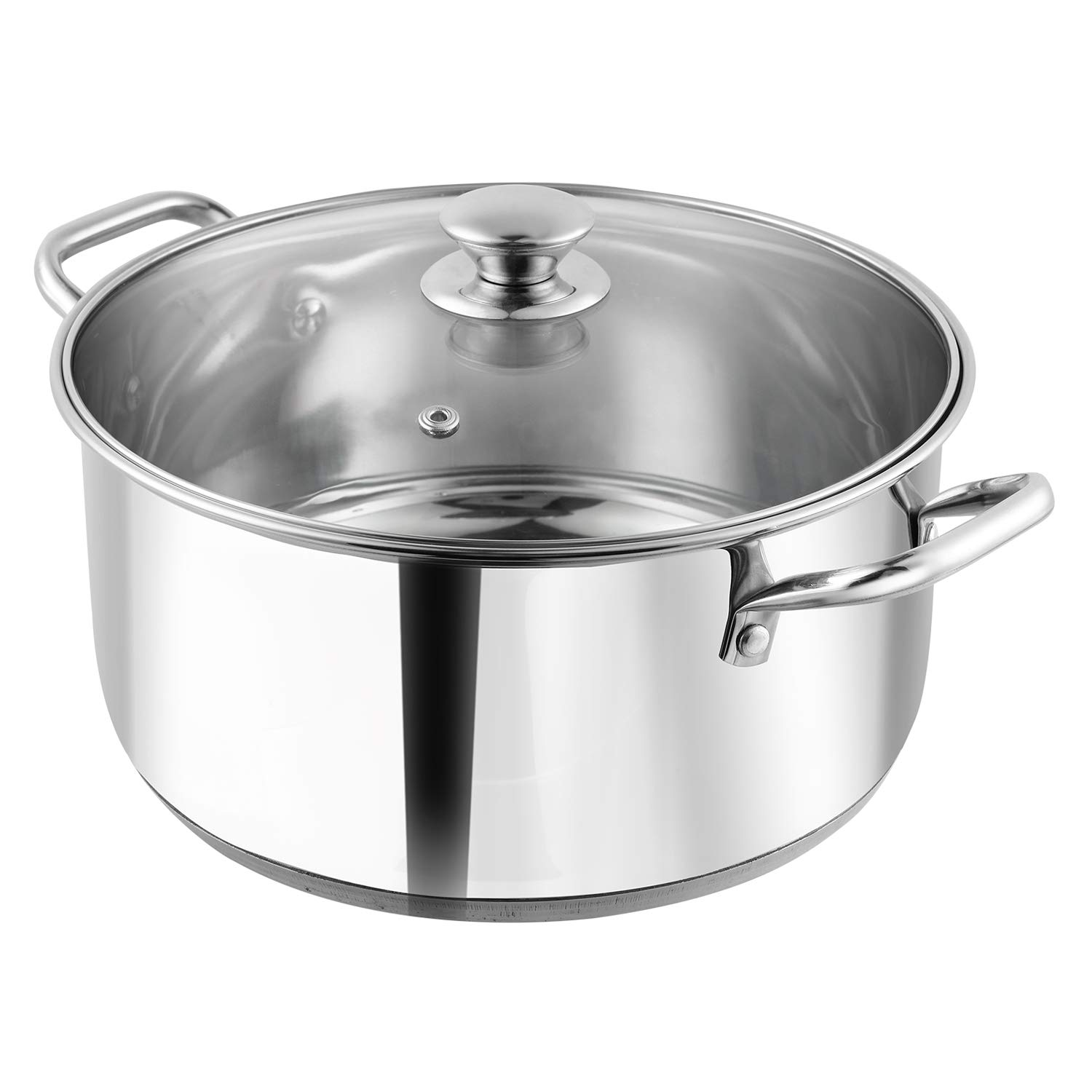 Vinod Rom-24 Stainless Steel Induction Friendly 24cm Casserole with lid (5ltr, Silver)