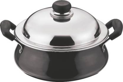 Vinod HAHWL-M Black Pearl Plus Handi 5L with Lid (Hard Anodised, Non-stick, Induction Bottom)