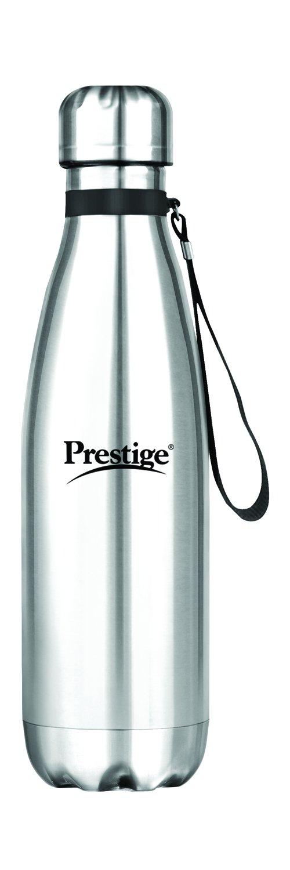Prestige Stainless Steel Bottle (Pack of 1, Silver, Steel)