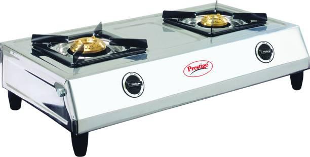 Prestige Shakti 40054 Stainless Steel Manual Gas Stove (2 Burners)