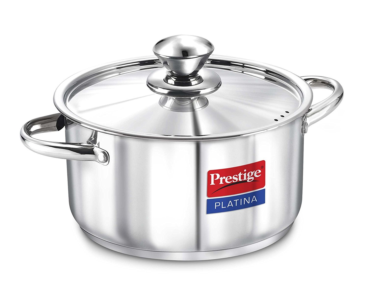Prestige 36508 - 7 Litre Platina Casserole with lid (Induction Base, Stainless Steel)