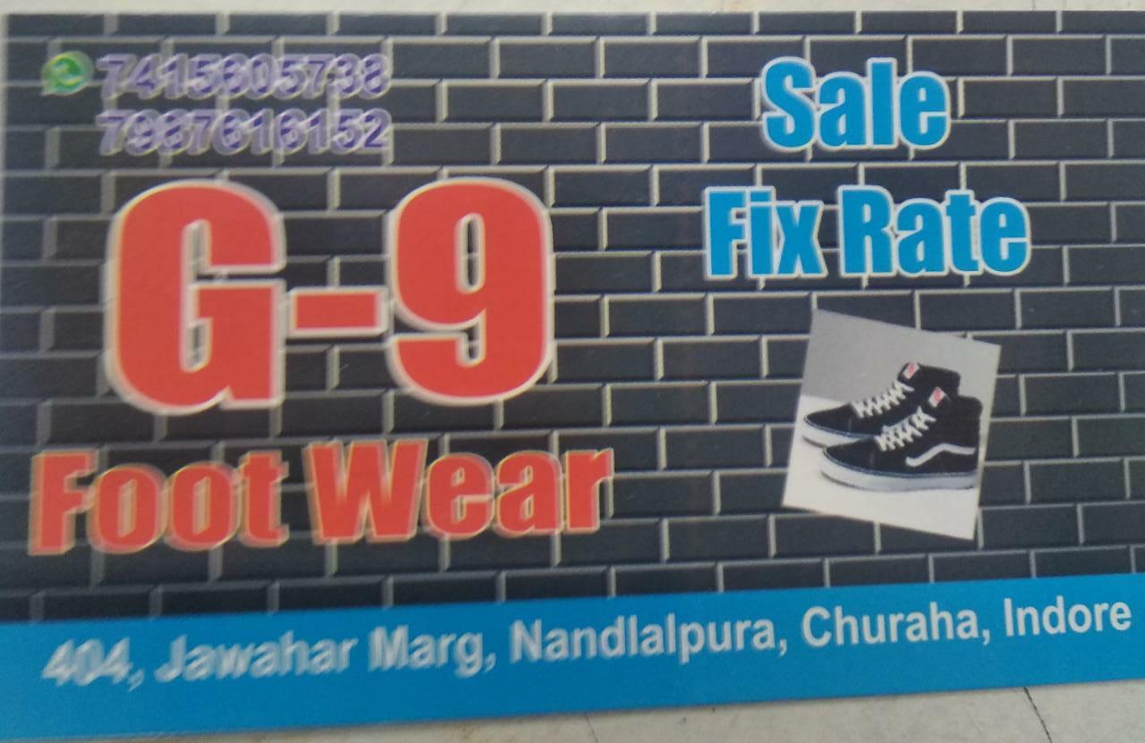 G9 footwear sale