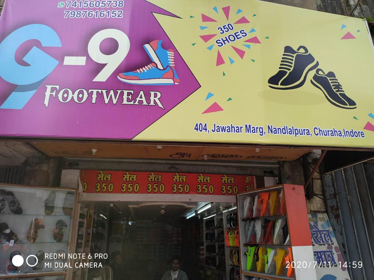 G-9 foot wear