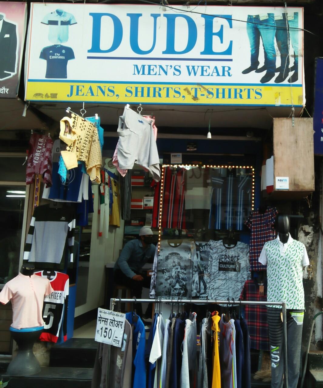 Dude man's wear