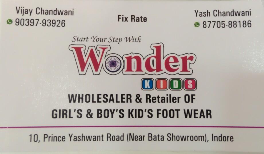 Wonder kids foot wear