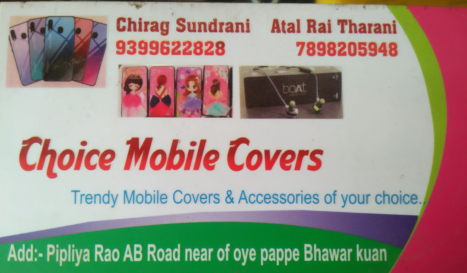 Choice mobile covers
