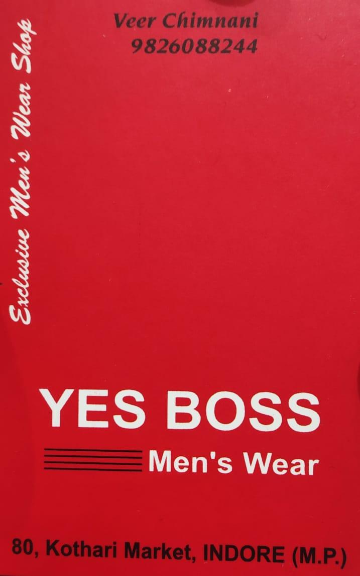 YES BOSS MEN'S WEAR