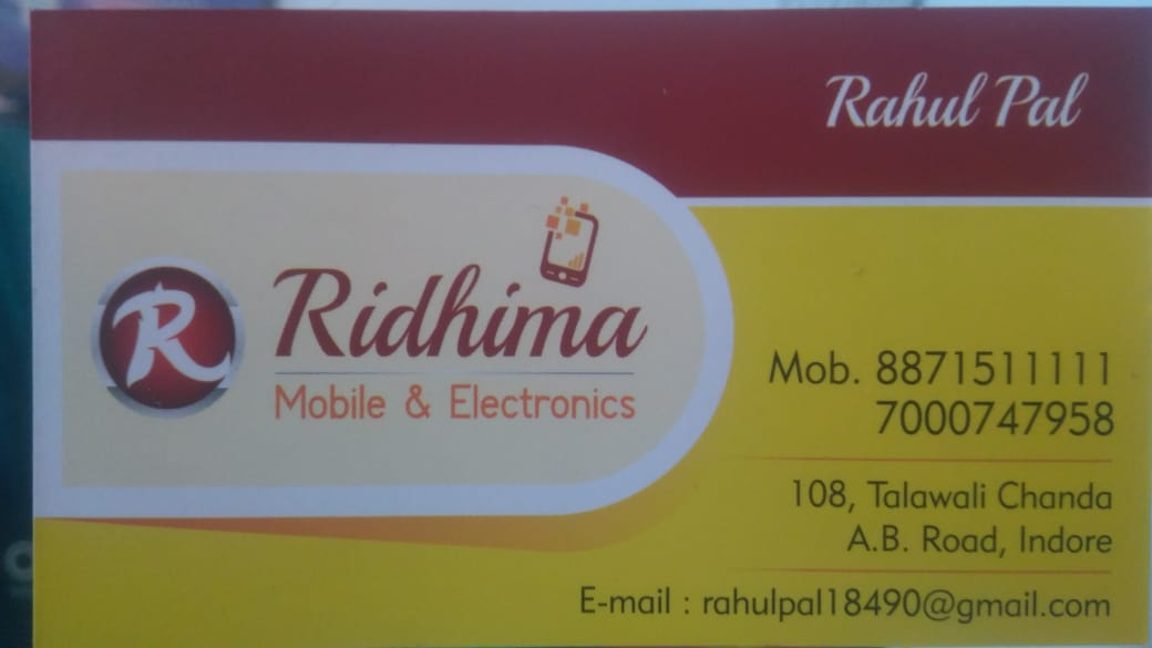 Ridhima mobile and Electronics